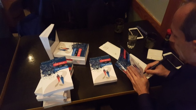 Signing some books